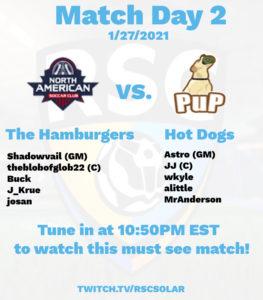 10:50 - Master The Hamburgers (Master): NSC | Shadowvail (GM) NSC | theblobofglob22 (C) NSC | Buck NSC | J_Krue NSC | josan vs Hot Dogs (Master): PuP | Astro (GM) PuP | AJ (C) PuP | wkyle PuP | alittle PuP | MrAnderson
